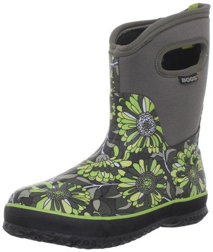 Bogs Women's Classic Mid Mumsie Waterproof Boot,Grey Multi,,6 M US