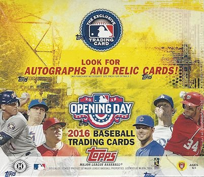 2016 Topps Opening Day Baseball Cards Hobby Box (36 Packs of 7 Cards - Possible autographs, memorabilia, stickers, or inserts) (Release Date - 03/16
