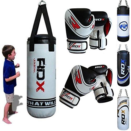 RDX Bambini Boxe Pelle 2FT Sacchi Pugilato MMA Pieno Sacco Terra Base Allenamento