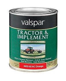 Valspar 4432-03 Allis Chalmers Orange Tractor and Implement Paint - 1 Quart