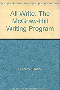 All Write: The McGraw-Hill Writing Program download ebook