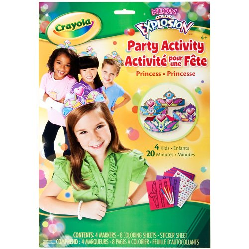 Crayola Neon Color Explosion Party Activity Princess