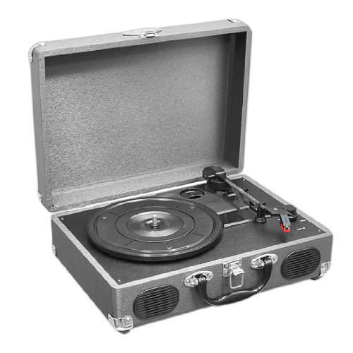 Pyle Pvtt2Ugr Retro Belt-Drive Turntable With Usb-To-Pc Connection With Built-In Rechargeable Battery (Gray)