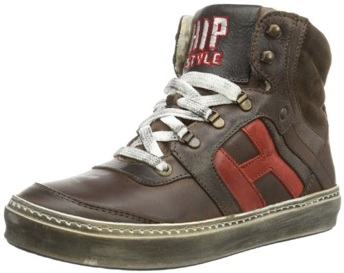 HIP Illy ankle bootee laces HIP, Sneaker unisex bambino, Marrone (Braun (Dk Brown  - Combi)), 32