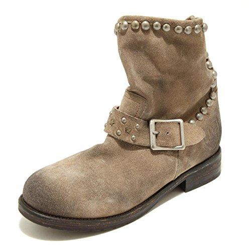 2573G stivaletto donna tortora MR. WOLF scarpa stivale boots shoes women [40]