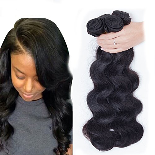Dream Show Brazilian Human Hair Body Wave 100% Hair Extensions Weft Weave Natural Color 1 Bundles/lot, 100g Total Grade 7A (24') (Natural Wave Hair compare prices)