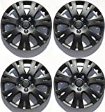 "ABS Plastic Aftermarket Wheel Cover Matte Black Special Finish 16 Inch Hubcaps 4 Pieces Universal fit most 16"" rims (Mazda 6 2009 2010)"