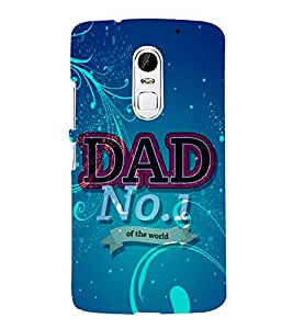 Dad No 1 in the World 3D Hard Polycarbonate Designer Back Case Cover for Lenovo Vibe X3