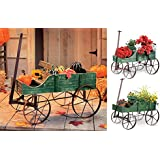 Collections Etc Amish Wagon Decorative Garden Decor