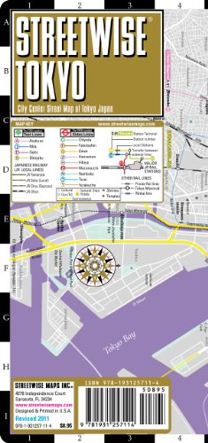 Streetwise Tokyo Map – Laminated City Center Street Map of Tokyo, Japan