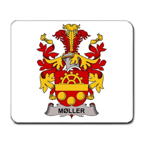 Moller Germanic Origin Family Crest Coat Of Arms Mouse Pad front-210620