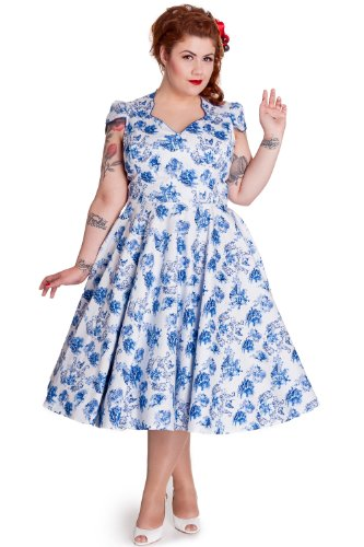 Hell Bunny Plus Victorian Rockabilly Antoinette Toile De Jouy Party Dress