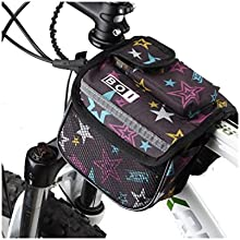 Rayda Bike Pack Bicycle Front Tube Frame Pannier Double Bag Pouch Package