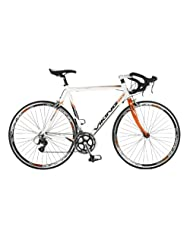 Viking Echelon, 16 Speed, 700c Wheel Bike, White/Orange