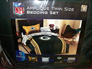 NFL Green Bay Packers Twin Bed in a Bag with Applique Comforter by Northwest