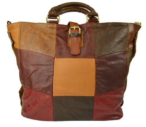 Handbag Gusti Genuine Leather Bag Shopper Shoulder Bag Vintage Tote Satchel City Leisure Shopping Bag Woman Large Multicoloured M41