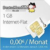 DeutschlandSIM Surfpaket 1 GB [SIM & Micro-SIM] - 12 Monate Vertragslaufzeit (1 GB Daten Flat, 0,00 Euro/Monat in den ersten 12 Monaten, danach 7,95 / Monat) o2-Netz