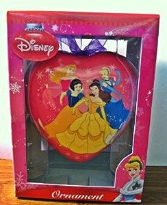 Disney Princess Heart Shaped Christmas Ornament