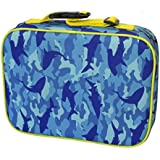 Insulated Lunch Box Sleeve - Securely Cover Your Bento Box - Shark Camouflage Design