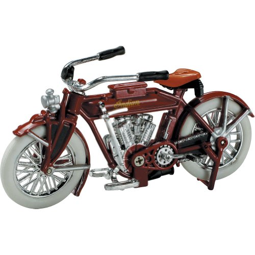 New Ray 1912 V-2 Indian Replica Motorcycle Toy - 1:32 Scale