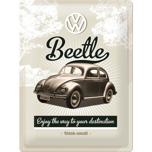 nostalgic-art-23166-targa-da-appendere-soggetto-volkswagen-vw-retro-beetle-30-x-40-cm