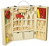 収納できる 木製ツールボックス トントン 大工さんセット 【知育玩具】
