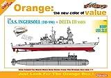 1/700 アメリカ海軍駆逐艦 インガソルDD-990 + ソ連海軍原子力潜水艦 デルタIII (2隻セット)
