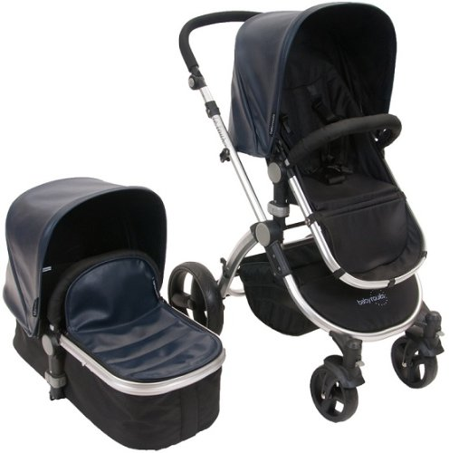 Baby-Roues-LeTour-Lux-II-NAVY-Lightweightt-Compact-Stroller-w-Bassinet
