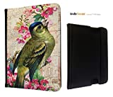 HDX Vintage Shabby Chic pink Floral Cute Bird Design Fashion Trend Amazon Kindle Fire HDX 7