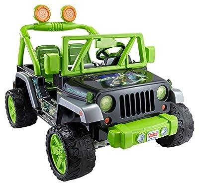 Power Wheels Teenage Mutant Ninja Turtle Jeep Wrangler, Green/Black from Fisher Price
