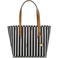 Medium All Day Tote<br>Black Signature Stripe