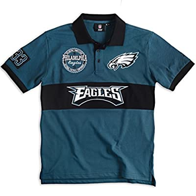 Philadelphia Eagles NFL Wordmark Short Sleeve Rugby Polo