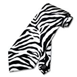 ZEBRA Animal Skin Print Neck Tie. SILK Men's NeckTie.
