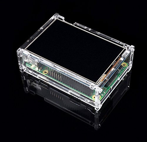 Raspberry Pi Lcd Display Module 3.5Inch 320*480 Tft Resistive Touch Screen And Raspberry Pi Model B+ Transparent Case And Heatsinks