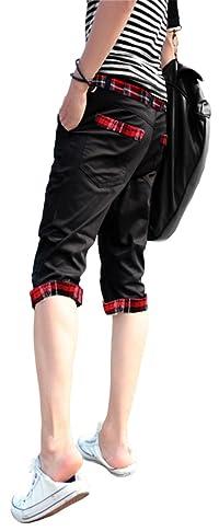 Chain World(チェーンワールド)メンズ ズボン カラー パンツ ベージュ XL 7部 チェック