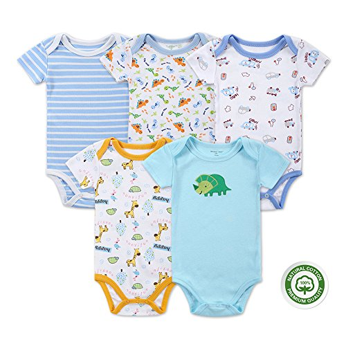 Mother Nest Baby Bodysuit Onesies Clothes Boys 5 Pack(BBT050-3M)