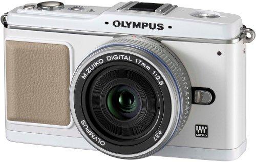 OLYMPUS PEN マイクロ一眼 E-P1 パンケーキキット ホワイト E-P1 PKIT-WHT