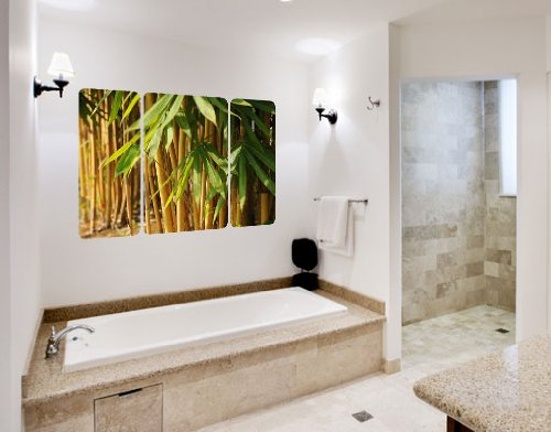 de-la-etiqueta-engomada-the-sunny-bamboo-triptico-mural-54-x-36-cm