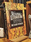 RENEWAL OF LITERATURE (0394501403) by Poirier, Richard