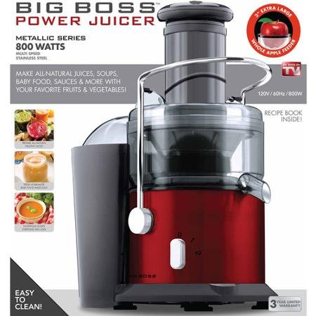 Big Boss 800-Watt Power Juicer, Red (Big Boss 800 Watt Juicer compare prices)