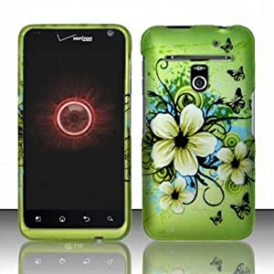 Verizon LG Revolution 4G Accessory - Blossoming Spring Flower & Butterflies Protective Hard Case Cover Design