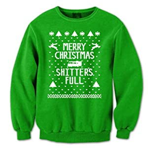 Merry Christmas Shitters Full Ugly Sweater Party Mens Sweatshirt