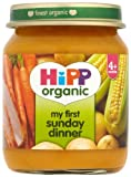 HiPP Organic From 4 Months My First Sunday Dinner- 6 x 125 g (Pack of 2, Total 12 Pots)