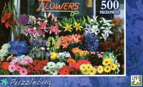 Flower Shop - Puzzlebug - 500 Pc Jigsaw Puzzle - NEW