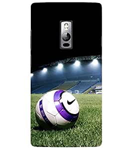 Evaluze football Printed Back Cover for ONE PLUS TWO