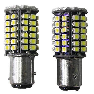 Rayshop - Generic Ba15D 1156 1157 High Bright Car Led Bulb 68-3528 Smd Dc12V Warm White (1 Pair)