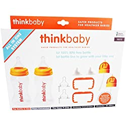 Thinkbaby All In One Bottle - Orange/Clear