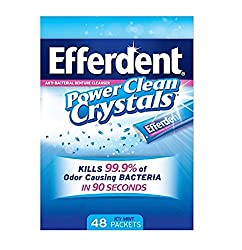 Efferdent Anti-Bacterial Denture Cleanser Power Clean Crystals, Icy Mint 48 Each by Efferdent