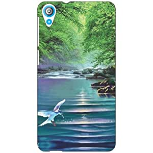 Via flowers Water Body Phone Cover For HTC Desire 820