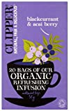 Clipper Organic Infusion Blackcurrant and Acai Berry Enveloped 25 Teabags 62.5 g (Pack of 6)